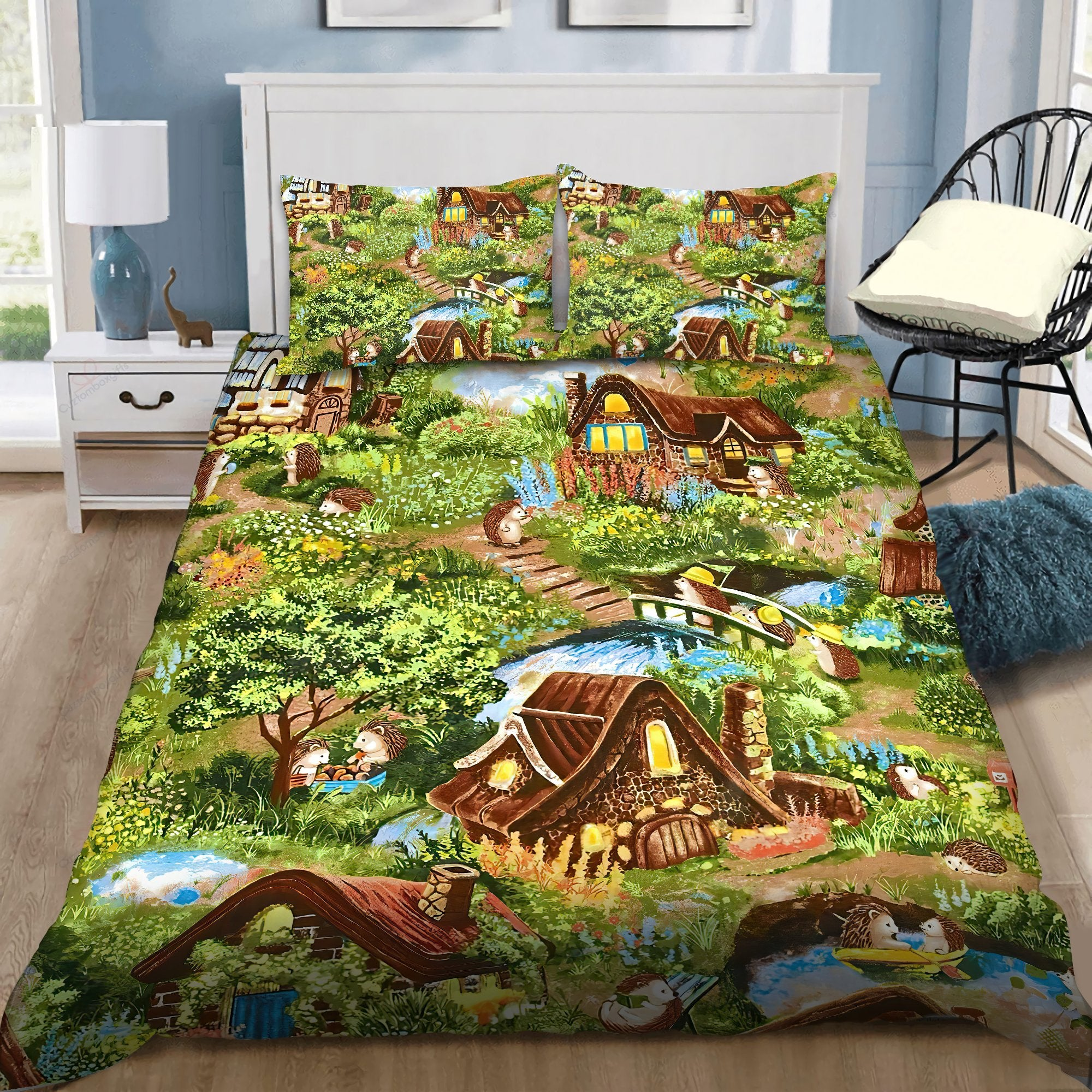 Hedgehog Love Bedding Set DQB07172005-Quilt-SUN-King-Vibe Cosy™