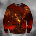 3D All Over Print Deathwing On Fire-Apparel-PHL-Sweatshirt-S-Vibe Cosy™
