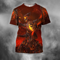 3D All Over Print Deathwing On Fire-Apparel-PHL-T-Shirt-S-Vibe Cosy™