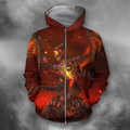 3D All Over Print Deathwing On Fire-Apparel-PHL-Zip-S-Vibe Cosy™
