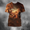 3D All Over Print Fighting Dragon-Apparel-PHLong-T-Shirt-S-Vibe Cosy™