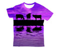Sunset and Cow Violet Kids All Over-Apparel-HD09-T-Shirt-TODDLER 2T-Vibe Cosy™
