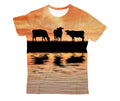 Sunset and Cow Kids All Over-Apparel-HD09-T-Shirt-TODDLER 2T-Vibe Cosy™
