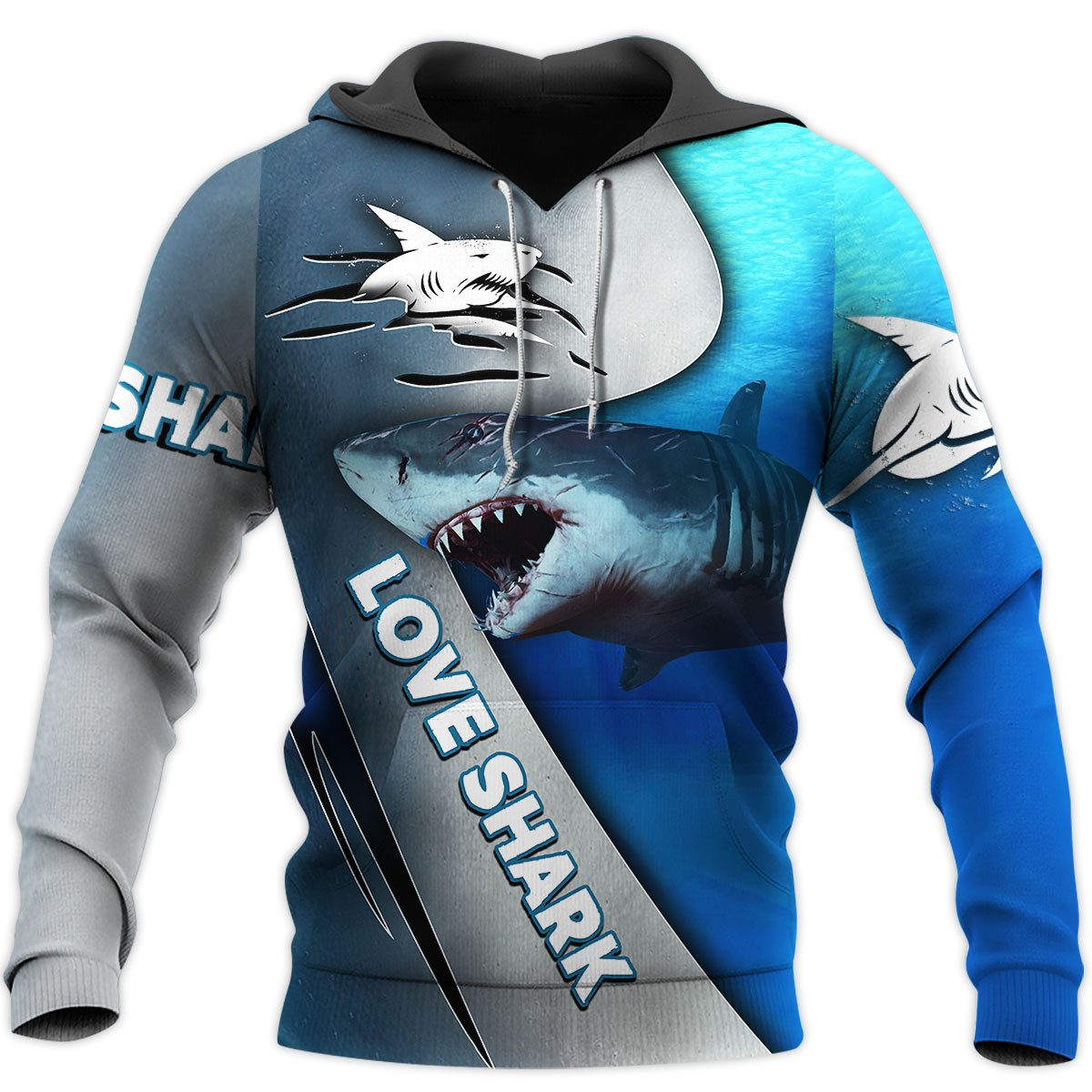 Love Shark 3D All Over Printed Shirts For Men and Women TT072053-Apparel-TT-Hoodie-S-Vibe Cosy™