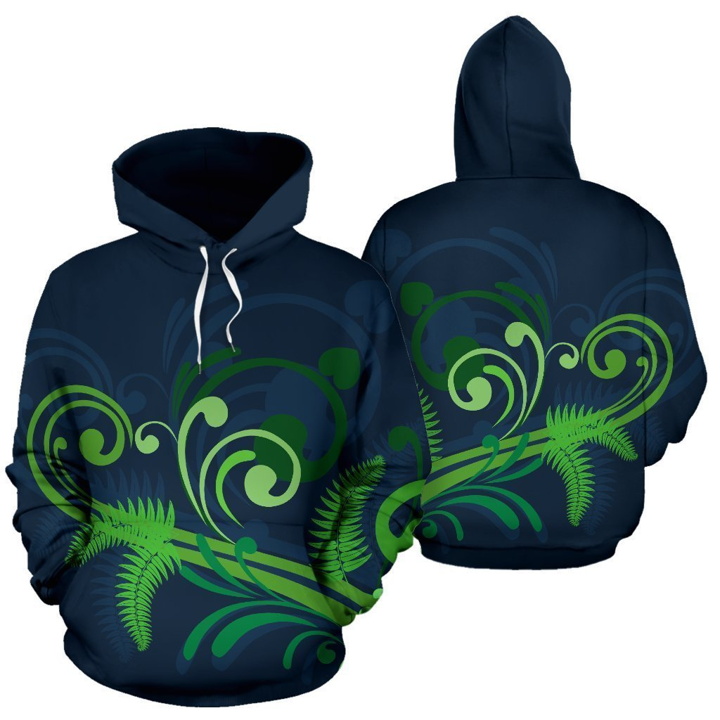 New Zealand Silver Fern Hoodie Green HC1104-Apparel-Huyencass-Hoodie-S-Vibe Cosy™