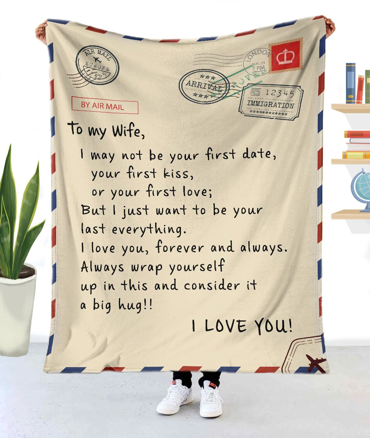 To my wife - I love you message blanket HG7900-HG-XLARGE-Vibe Cosy™