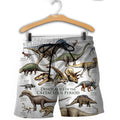 3D All Over Printed Dinosaurs Shirts and Shorts-3D All Over Printed Clothes-HP Arts-Shorts-XS-Vibe Cosy™