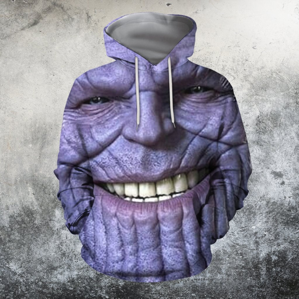 3D All Over Print Thanos Face-Apparel-HD09-Hoodie-S-Vibe Cosy™