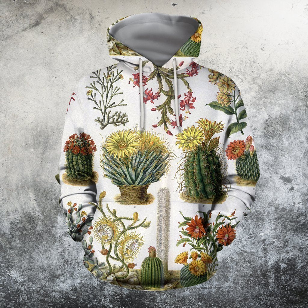 3D All Over Printed Flower cactus Shirts-Apparel-NTH-Hoodie-S-Vibe Cosy™