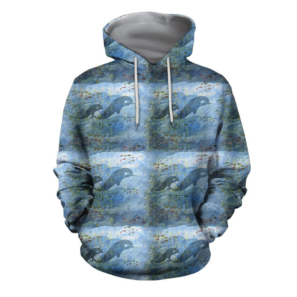 3D All Over Best Mother Dolphin Hoodie-Apparel-Khanh Arts-Hoodie-S-Vibe Cosy™