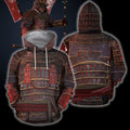 3D All Over Printed Samurai Armor Tops For Men-Apparel-HP Arts-Hoodie-S-Vibe Cosy™