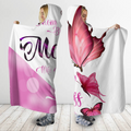 3D All Over Love Mom Butterflies Hoodie Dress Blanket-Apparel-TA-Hooded Blanket-Youth 49.6x59.05-Vibe Cosy™