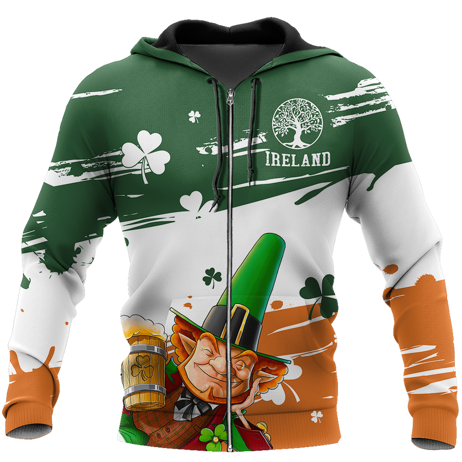 Irish St.Patrick day 3d hoodie shirt for men and women DD11112017