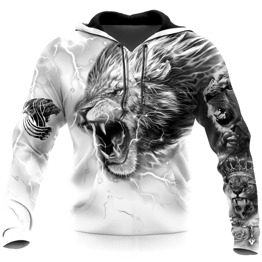 Lion Tattoo Art Hoodie T Shirt For Men and Women HAC310501-NM