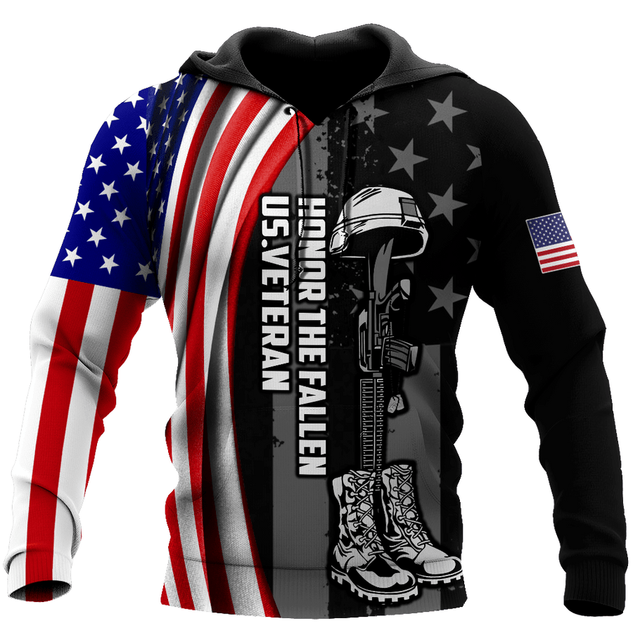 Honor The Fallen US Veteran3D All Over Printed Shirts For Men and Women MH1509203