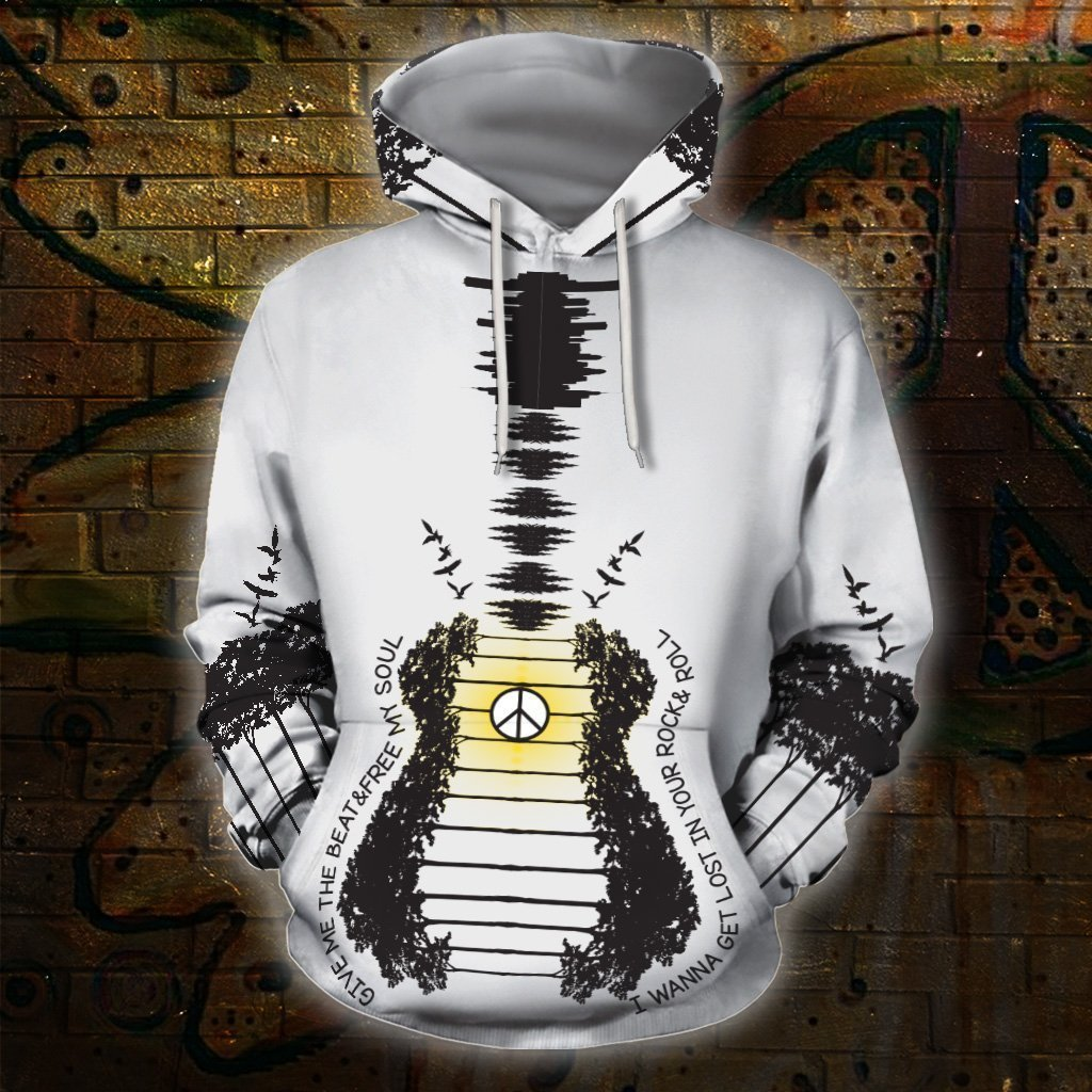 3D All Over Print Guitar Hoodie HG-Apparel-HG-Hoodie-S-Vibe Cosy™