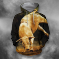 3D All Over Print Bull White Crazy Bull PHL102-Apparel-PHLong-Hoodie-S-Vibe Cosy™