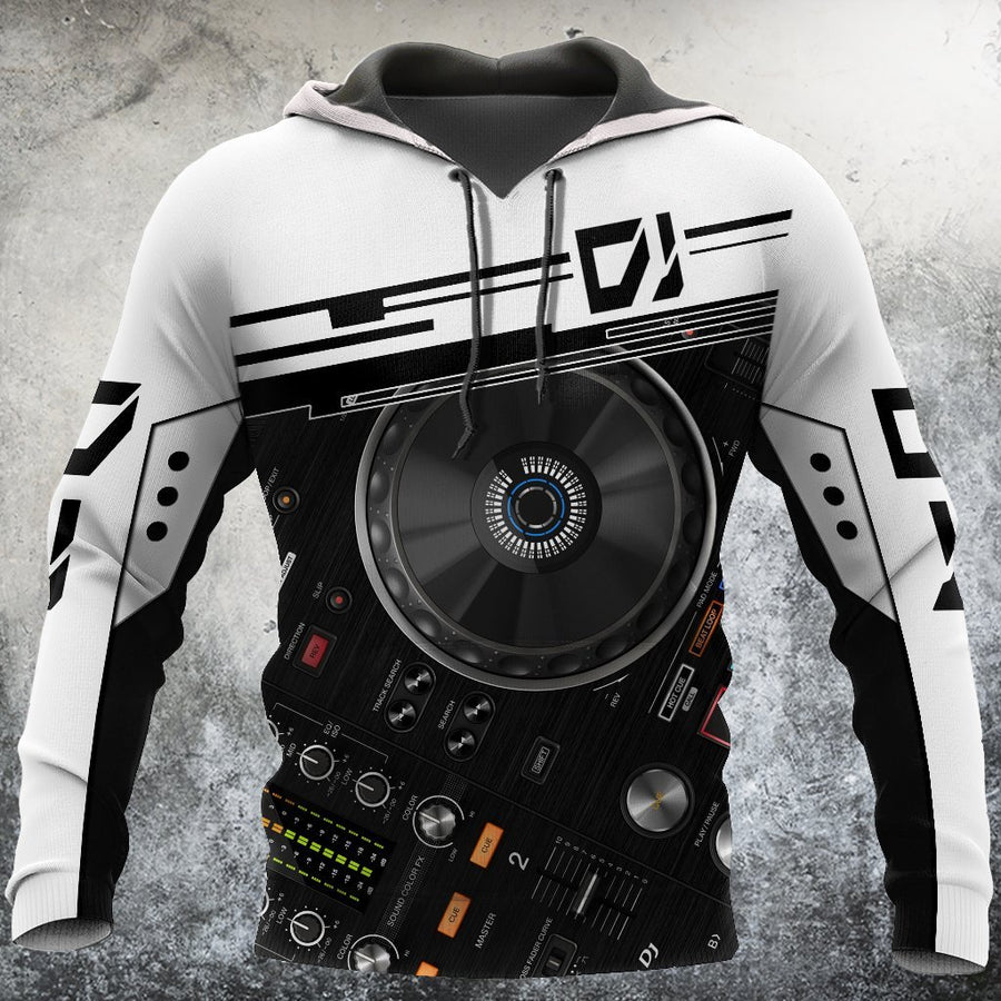 DJ player music 3d hoodie, t-shirt, sweatshirt for men and women HG HAC41201-Apparel-HG-Zip hoodie-S-Vibe Cosy™