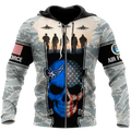 US Air Force skull 3d all over printed for man and women Pi270203 PL-Apparel-PL8386-ZIPPED HOODIE-S-Vibe Cosy™