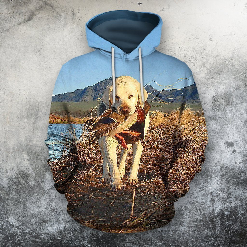 3D All Over Print Hunting Dog Zip Hoodie-Apparel-Phaethon-Hoodie-S-Vibe Cosy™