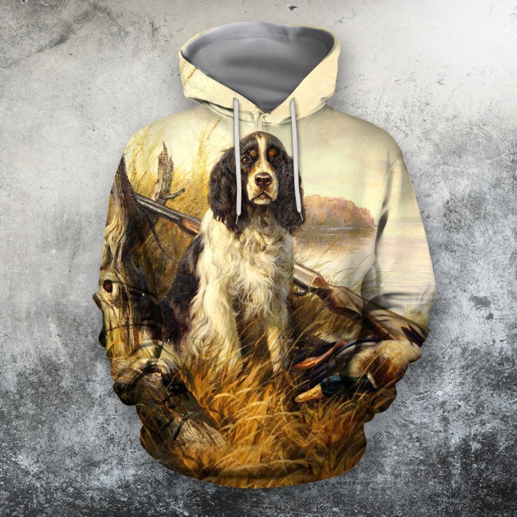 3D All Over Print Hunting Dog Duck Hoodie-Apparel-Phaethon-Hoodie-S-Vibe Cosy™