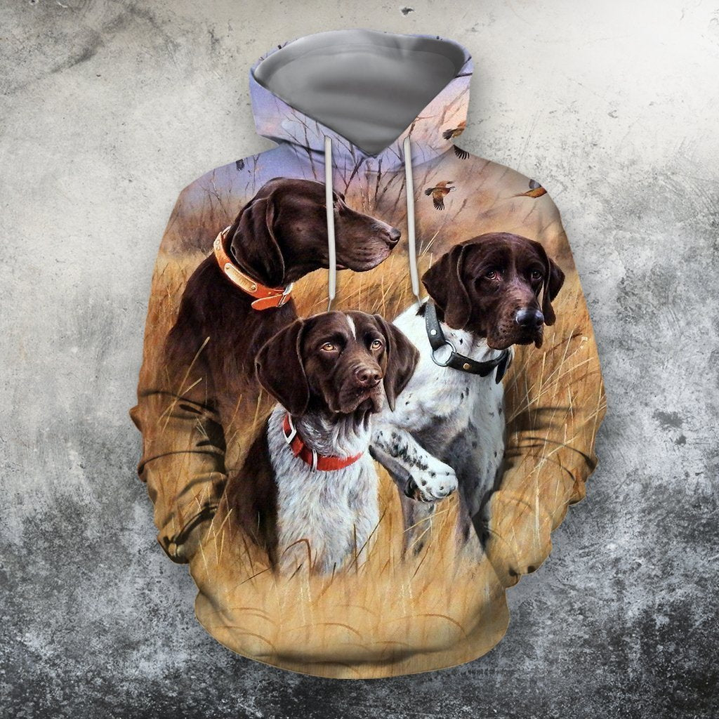 3D All Over Print 3 Hunting Dog Hoodie-Apparel-Phaethon-Hoodie-S-Vibe Cosy™