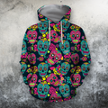 3D All Over Print Colorful Skull Shirts-Apparel-Phaethon-Hoodie-S-Vibe Cosy™