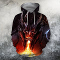 3D All Over Print Dragon With Fire Shirts-Apparel-Phaethon-Hoodie-S-Vibe Cosy™