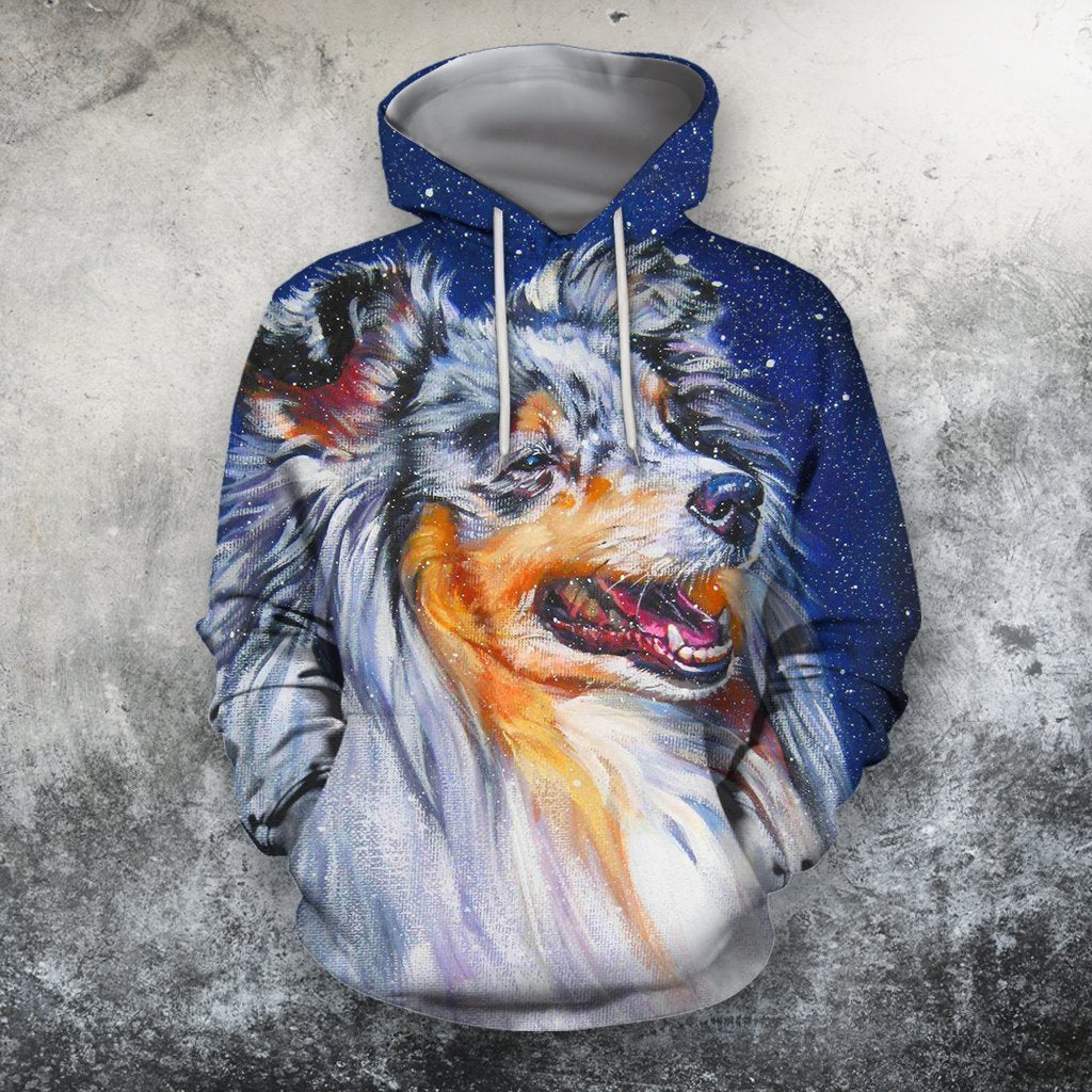 3D All Over Print Shelties Blue Merle Dog Hoodie-Apparel-Phaethon-Hoodie-S-Vibe Cosy™