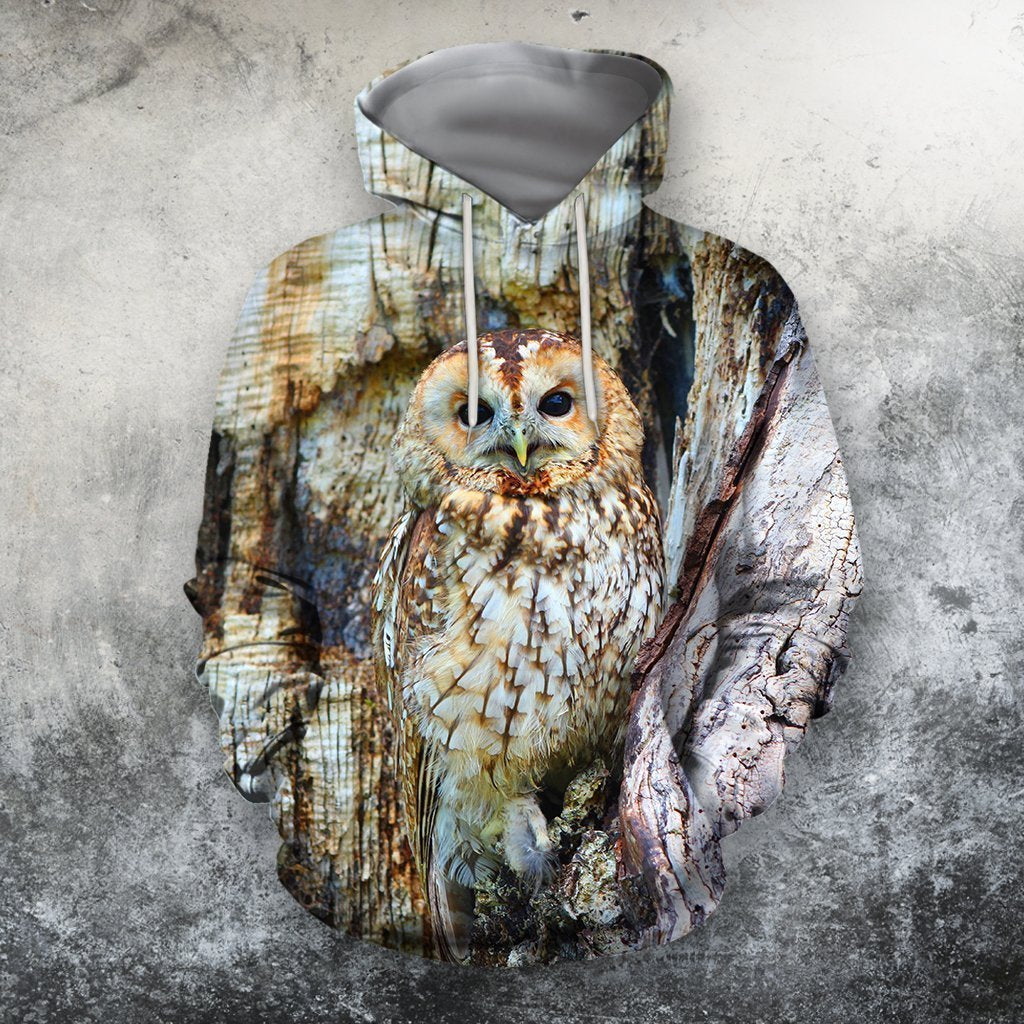 3D All Over Print Owl Shirts-Apparel-Phaethon-Hoodie-S-Vibe Cosy™