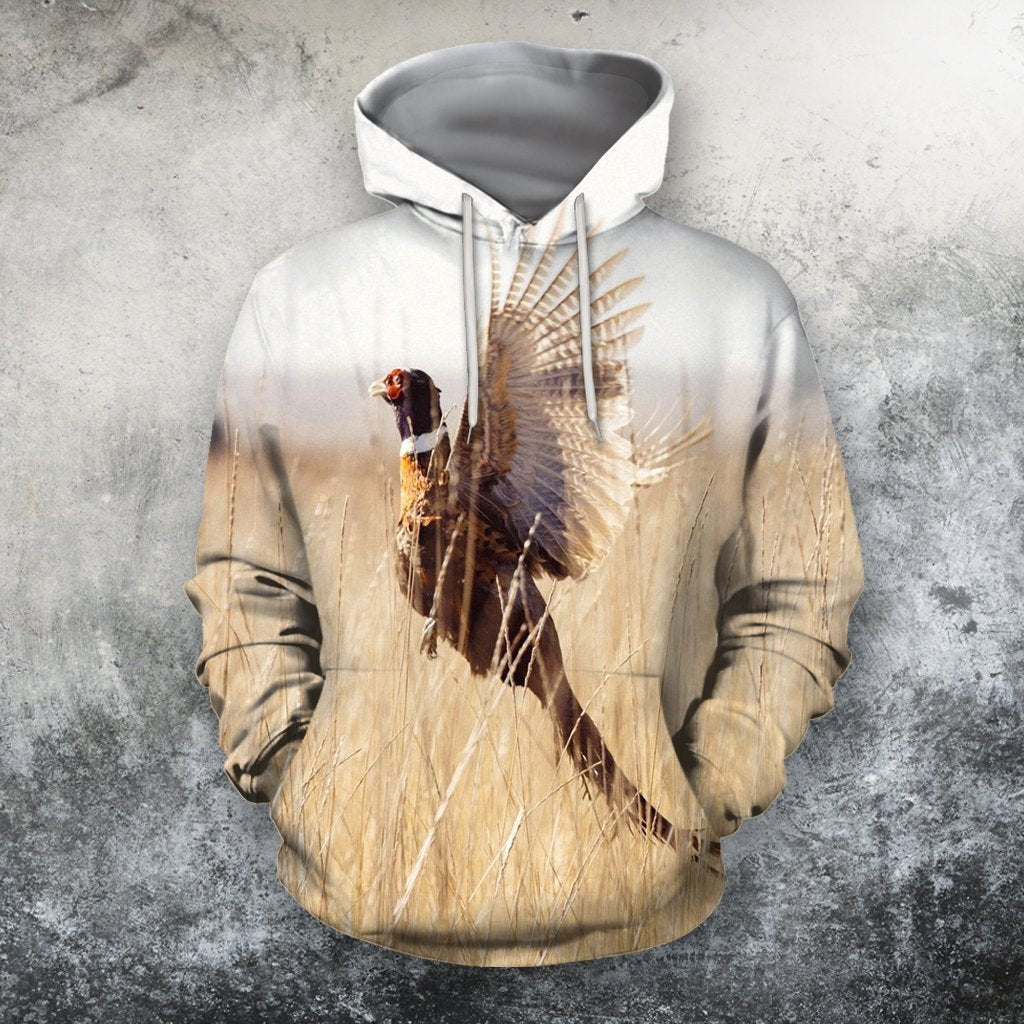 3D All Over Print Pheasant Hunter Hoodie-Apparel-MP-Hoodie-S-Vibe Cosy™