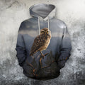 3D All Over Print Owl Drinking Coffee Shirts-Apparel-Phaethon-Hoodie-S-Vibe Cosy™