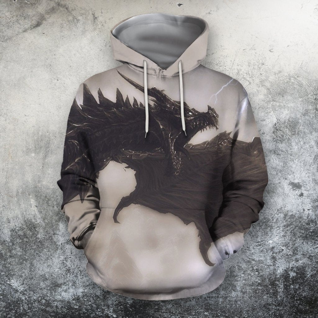 3D All Over Print BlackDragon Hoodie-Apparel-Phaethon-Hoodie-S-Vibe Cosy™