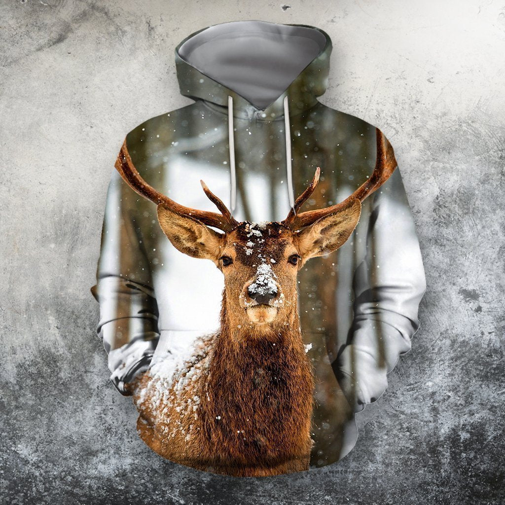 3D All Over Print Deer Winter Shirts-Apparel-Phaethon-Hoodie-S-Vibe Cosy™