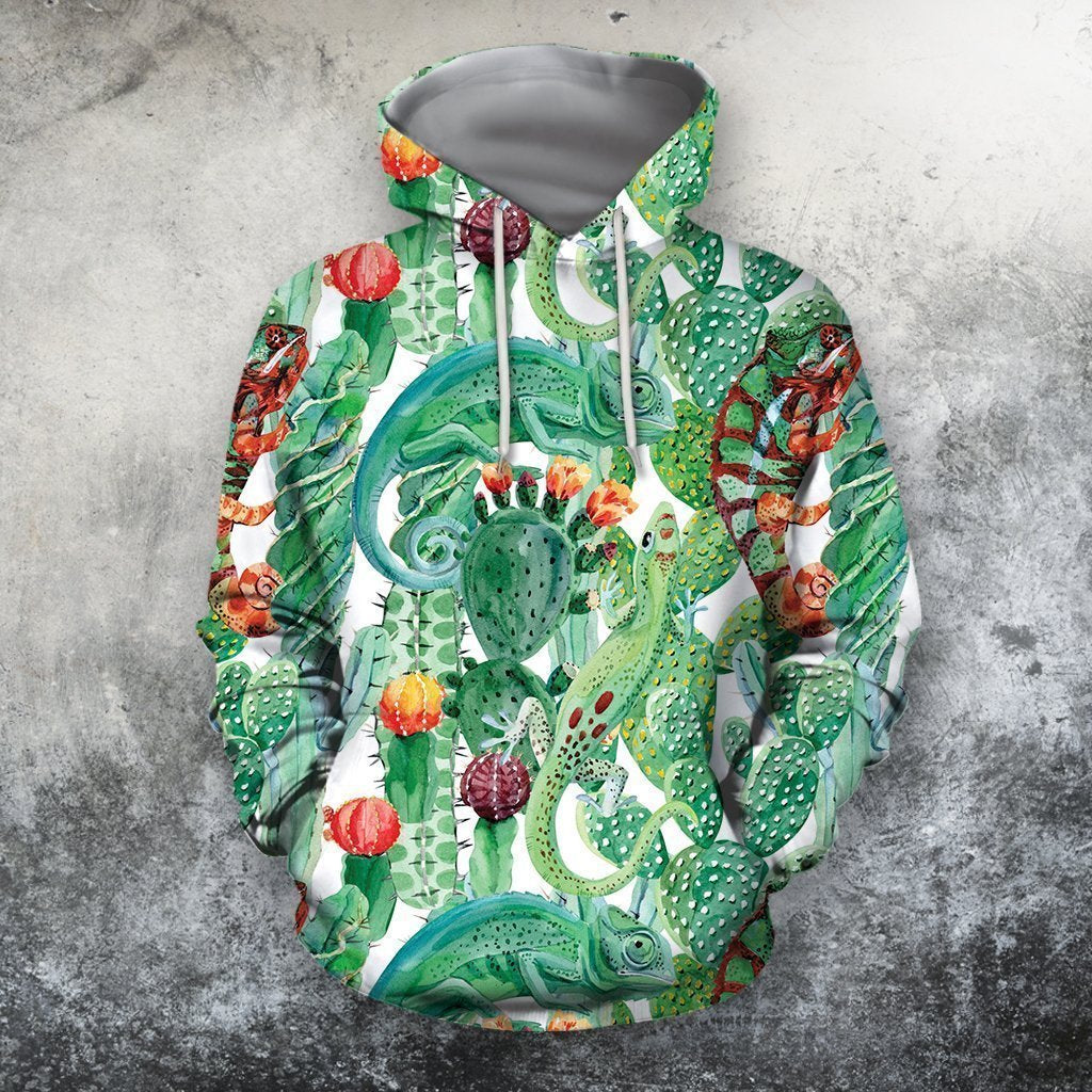 3D All Over Printed Cactus And Gecko Shirts-Apparel-NTH-Hoodie-S-Vibe Cosy™