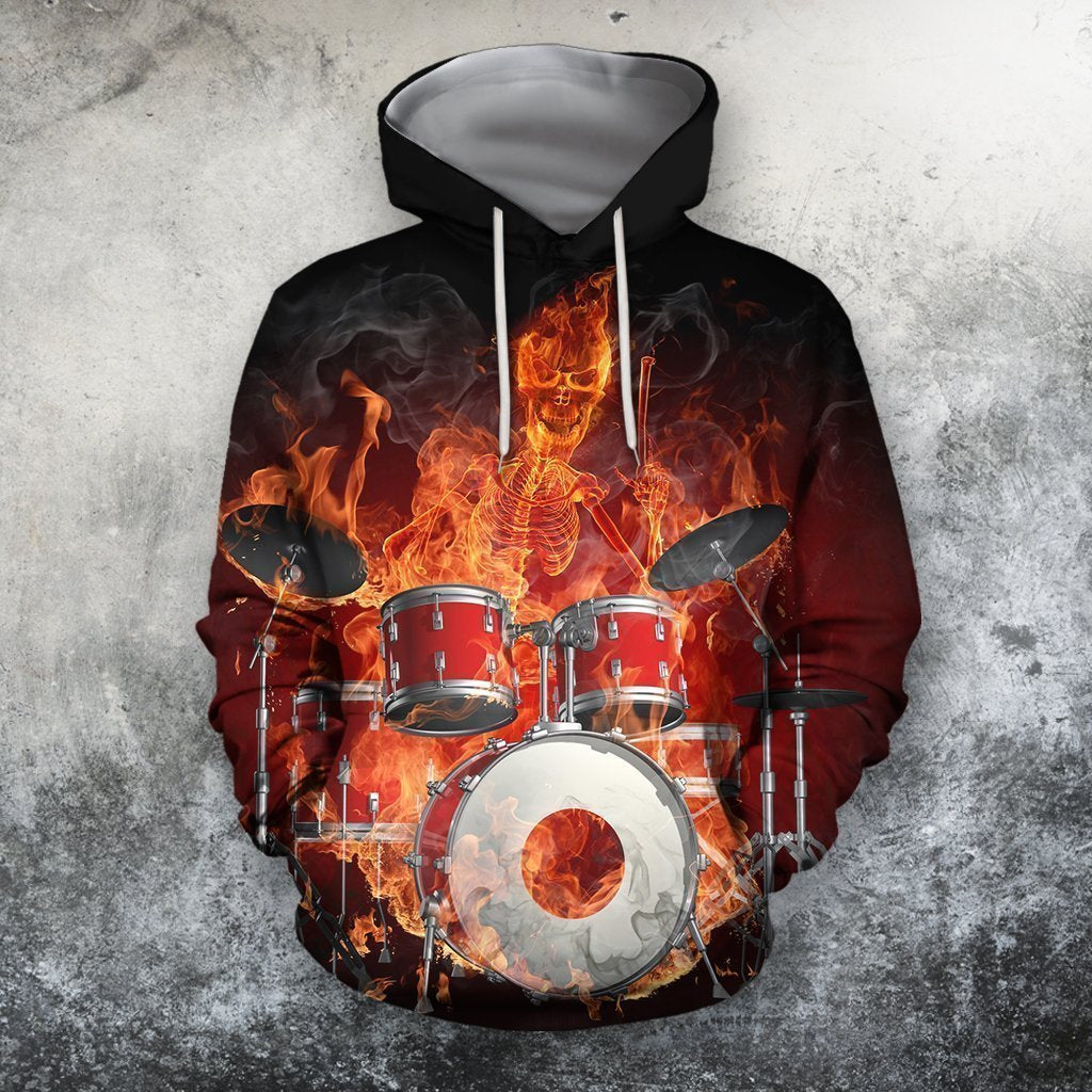 3D All Over Print Drum Shirts HG-Apparel-HG-Hoodie-S-Vibe Cosy™