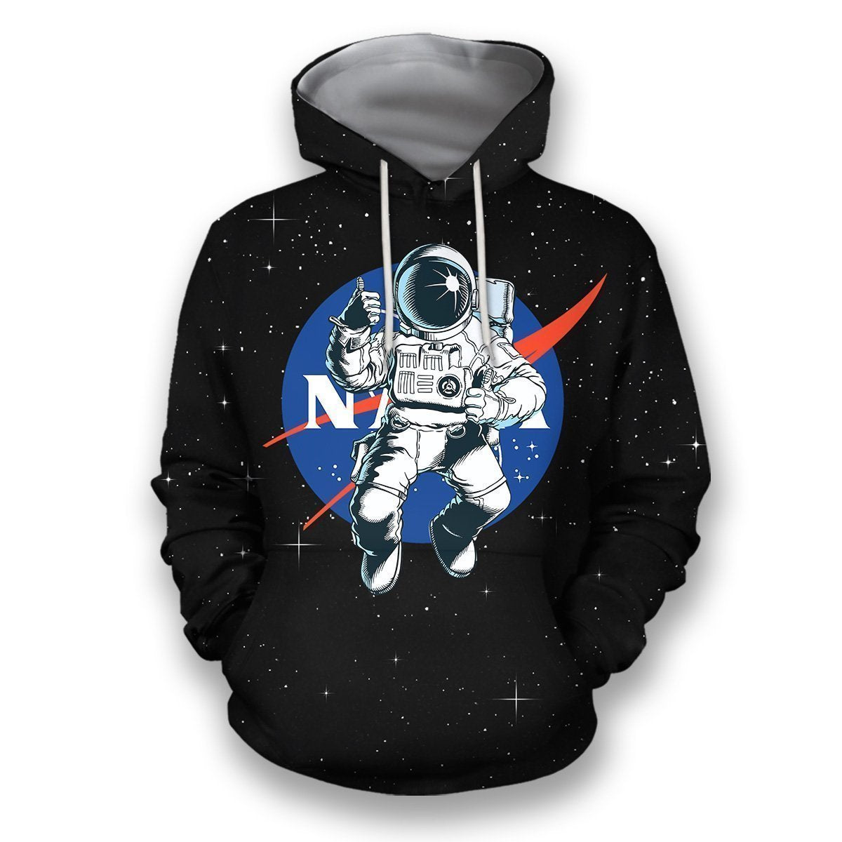 3D all over print nasa astronaut in the space-Apparel-HbArts-Hoodies-S-Vibe Cosy™