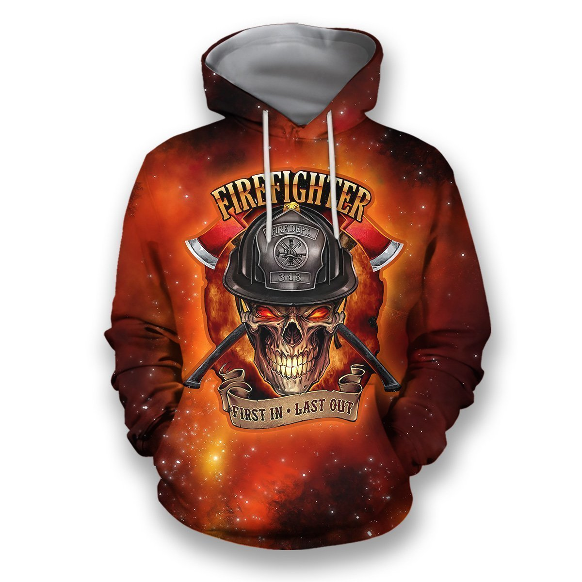 3D all over print firefighter hoodie-Apparel-HbArts-Hoodies-S-Vibe Cosy™