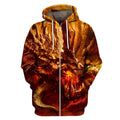 3D All Over Print Dragon Head Hoodie-Apparel-Phaethon-Zip-S-Vibe Cosy™