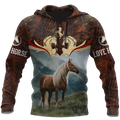 Love Horse 3D All Over Printed Shirts  Hoodie MP09082001S1