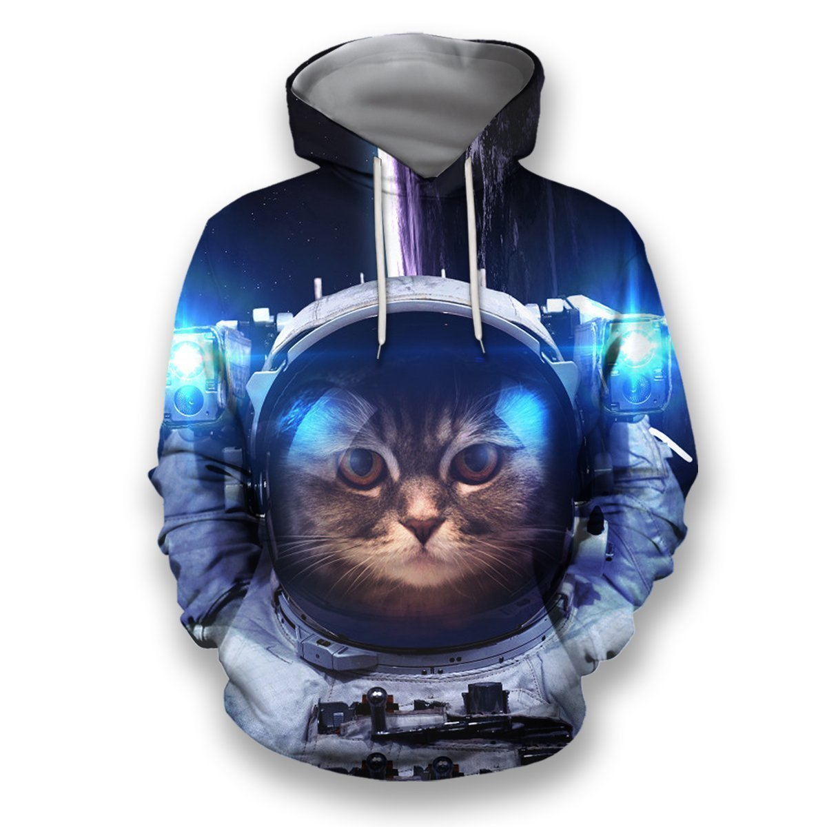 3D all over print space cat-Apparel-HbArts-Hoodies-S-Vibe Cosy™