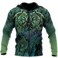 Maori hei matau paua shell 3d all over printed shirt and short for man and women-Apparel-PL8386-Zipped Hoodie-S-Vibe Cosy™