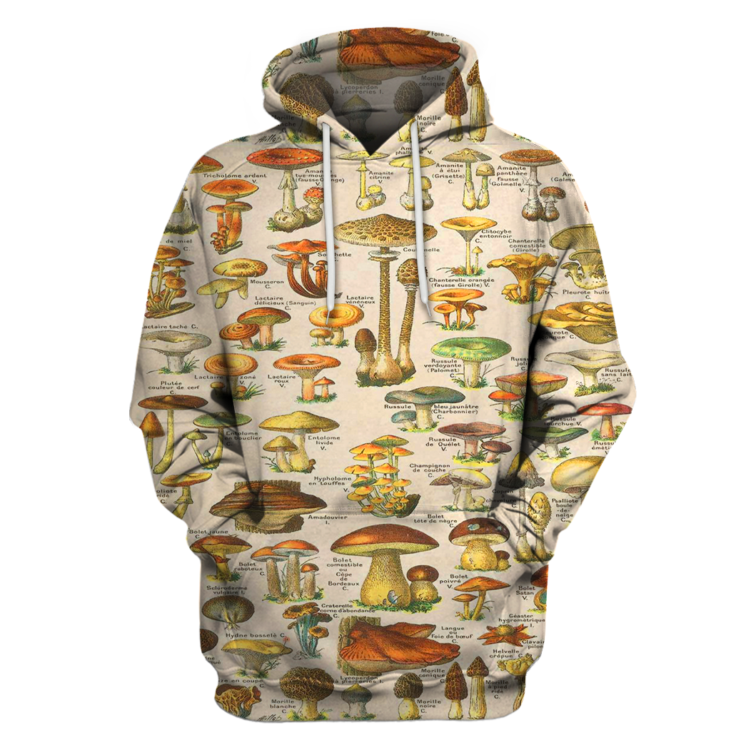 3D All Over Print Champignons Hoodie-Apparel-6teenth World-Hoodie-S-Vibe Cosy™