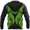 Amazing Polynesian Tattoo Green Hoodie-ML-Apparel-ML-Zipped Hoodie-S-Vibe Cosy™