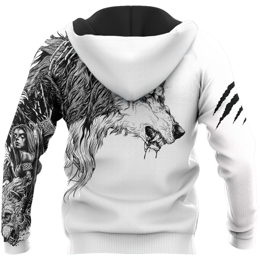 Tattoo Wolf Hoodie T Shirt For Men and Women HAC290501-NM