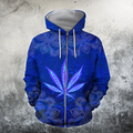 Hippie Royal Blue 3D All Over Printed Hoodie Shirt by SUN HAC280303-Apparel-SUN-Zipped Hoodie-S-Vibe Cosy™