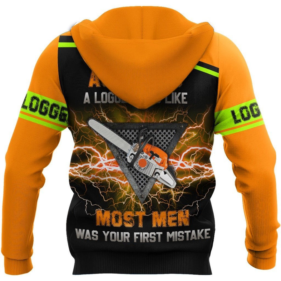 PREMIUM CHAINSAW LOGGER ORANGE UNISEX SHIRTS