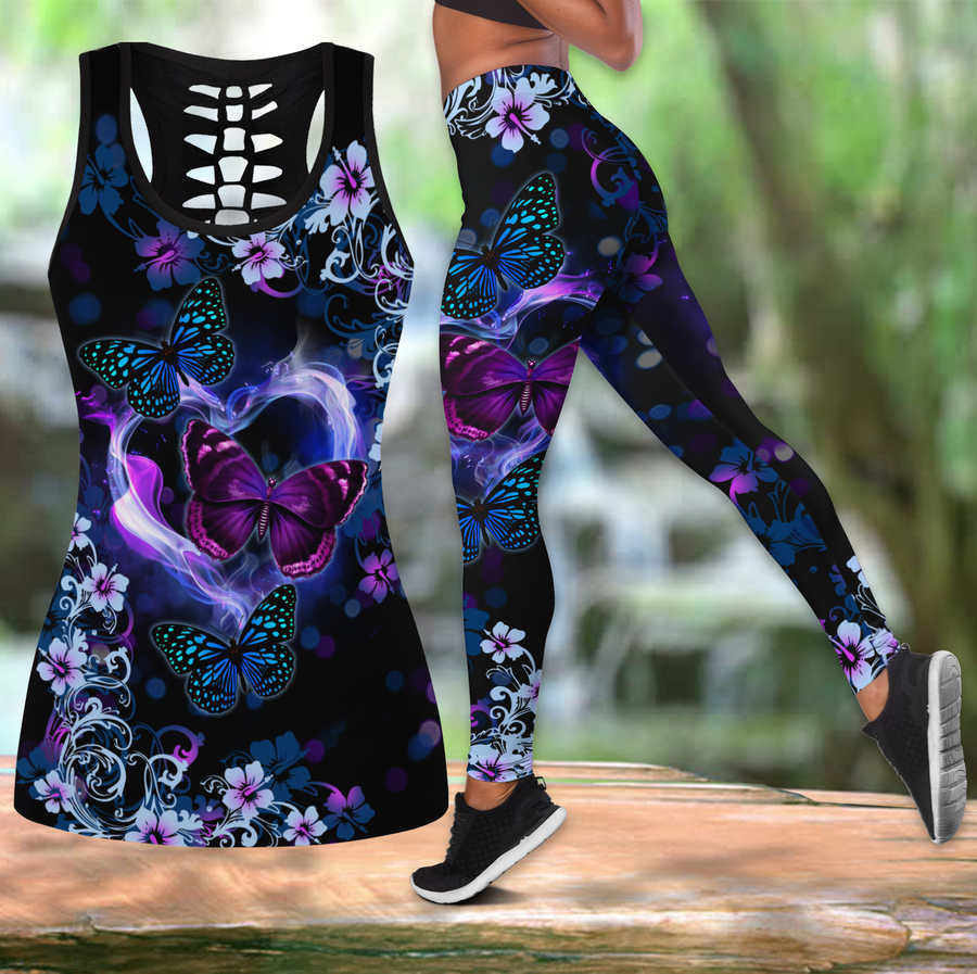Beautiful Butterfly Combo Tank + Legging JJ100402-Apparel-TA-S-S-Vibe Cosy™