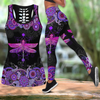 Beautiful Dragonfly Combo Tank + Legging JJ140401-Apparel-TA-S-S-Vibe Cosy™