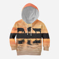Sunset and Cow Kids All Over-Apparel-HD09-Hoodie-TODDLER 2T-Vibe Cosy™